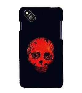 printtech Skull Fantasy Back Case Cover for MicromaxBolt D303