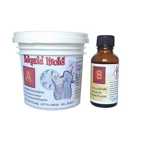 Caoutchouc de silicone liquide par verser 250 grammes – pour le Moule, bi-composant A + B