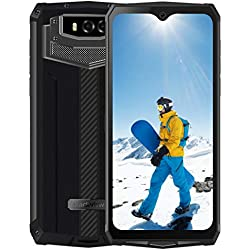13000mAh Smartphone Incassable, Blackview BV9100 Télephone Portable Incassable, 30W Charge Rapide 5V/6A, 6.3 Pouces FHD, 4GB+64GB, Caméra 16MP, Smartphone Etanche IP68, Dual SIM 4G, Android 9.0, NFC