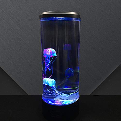 ZQH Bedside Nachtlicht, Kreativ Groß Qualle Lampe LED Nachttischlampe Fütterung Nachtlicht Schlafzimmer Wohnzimmer Bar Bunt Atmosphäre Beleuchtung USB betrieben Hoch 34,5 cm,2.5W