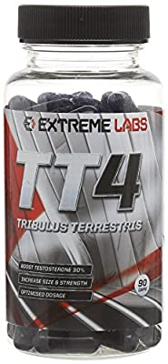 Extreme Labs TT4 Tribulus Terrestris Testosterone Booster - Pack of 90 Capsules from Extreme Labs