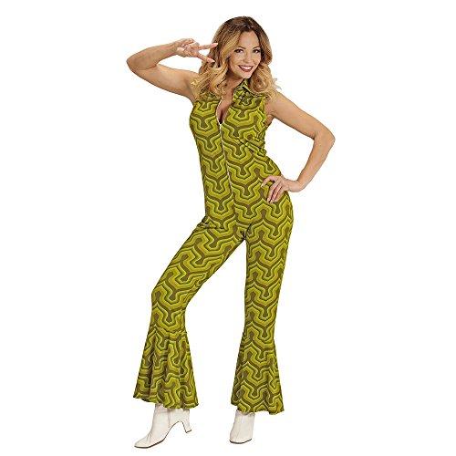Widmann 08912 Erwachsenenkostüm 70's Jumpsuit, - Disco Ball Kostüm