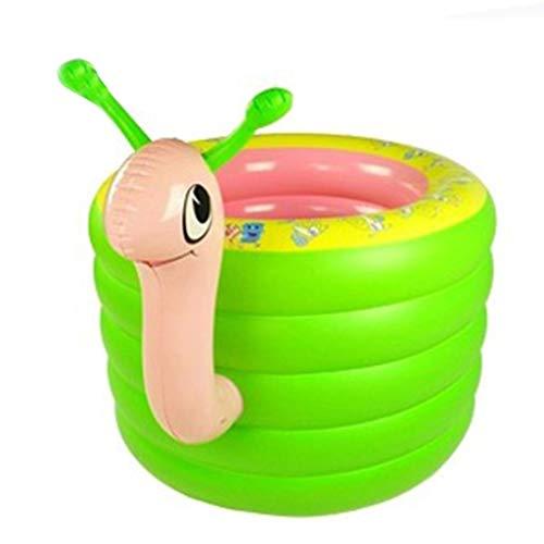 Ryg Planschbecken Aufblasbare Badewanne, Wanne der Kinder faltender Swimmingpool-Schnecken-Form-Fünf-Ring 106 * 70CM Wasserspielzeug