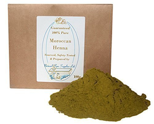 100g Moroccan Henna Powder Hair Dye, 100% Pure and Natural. Additive Free. Covers Grey Hair