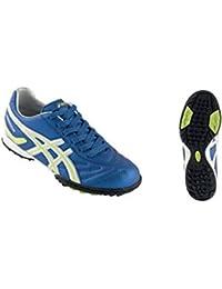79ee95651133 ASICS Scarpe calcetto junior WARRIOR JR CA blu elettrico giallo fluo JSG993