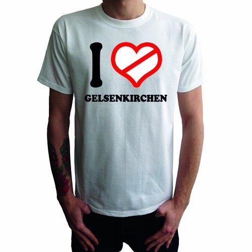 I don't love Gelsenkirchen Herren T-Shirt Weiß