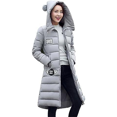 MODETREND Mujer Hoodie Chaquetas de Plumas Espesado Largo Abrigo con Capucha Encapuchado Acolchada Abajo Para Otoño Invierno Parka
