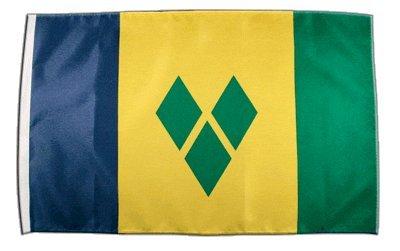 Fahne Flagge St. Vincent und Grenadinen 30 x45 cm