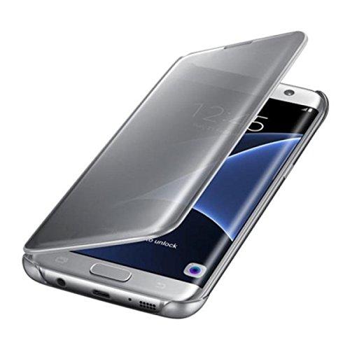 Funda Samsung Galaxy S8 Fecha Pacyer® Modelo Fip inteligente una casa delgado metal Espejo Carcasa protección duro Función (Blanco)