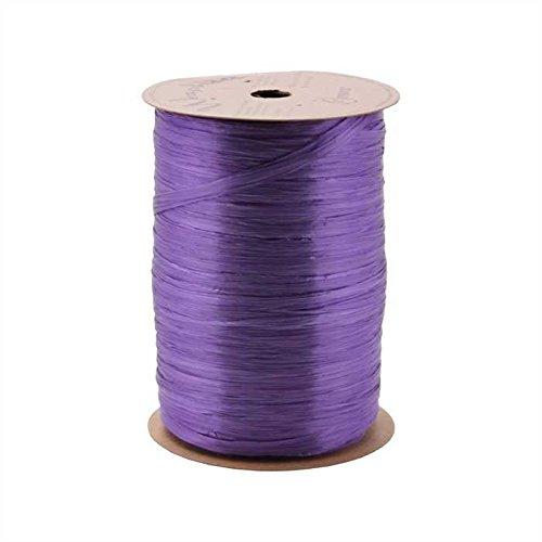 Berwick Offray Violet Purple Raffia-Schleifenband mit Perlglanzeffekt 0,6 cm breit 0,64 m - Subtilen Glanz-finish