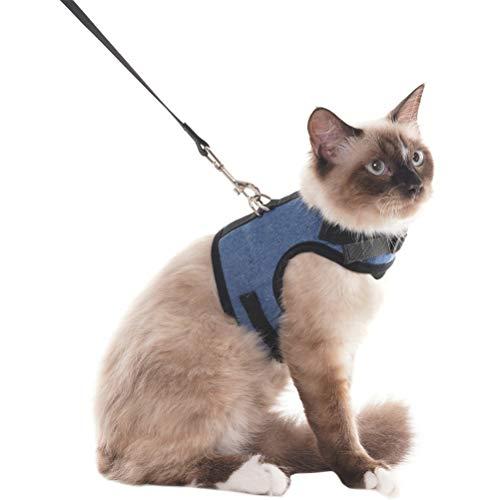 Escape-Beweis Katzengeschirr Verstellbare Soft Hundegeschirr für Welpen Katzen Haustiere, S
