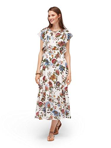 TOM TAILOR Denim Frauen Kleider & Jumpsuits Maxi-Kleid mit Floralem Muster