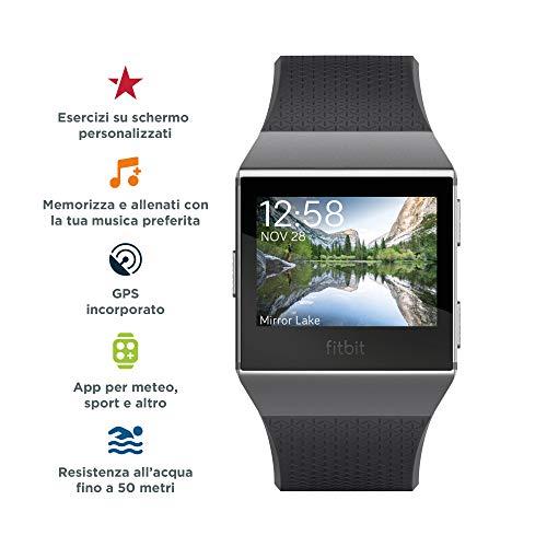 Zoom IMG-1 fitbit ionic fitness smartwatch nero