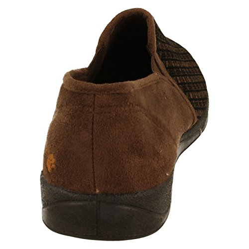 Padders  Albert,  Herren Flache Hausschuhe Brown Check Wool Mix/Suede