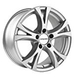 Carmani CA90818H335KS Bolt Circle 5.00 x 112.00 Offset 35 Hub Centering 66.60 Design 9 Compete, Crystal Silver