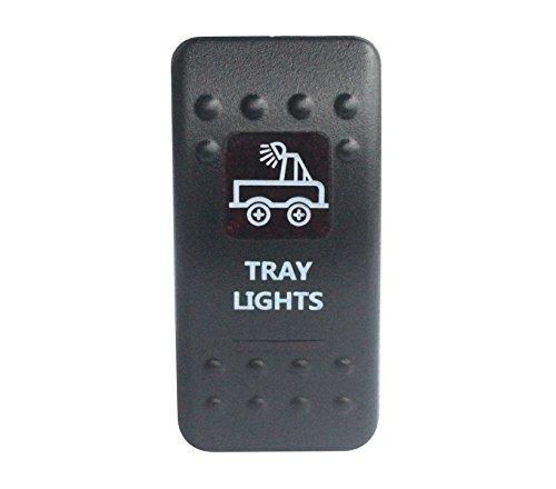 bandc Tablett Lichter Rocker Toggle Switch On/Off SPST rot LED 5Pins für Narva ARB Carling Stil Ersatz Wasserdicht IP66Auto Boot 12V/24V -