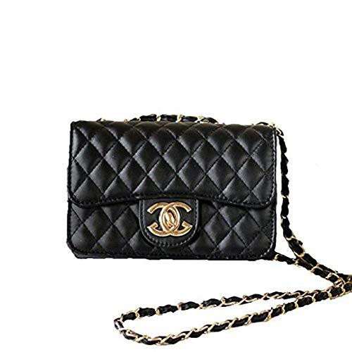XNRHH Handbag 2018 neue Welle Paket Kuriertasche Damen weiblichen Beutel Handtaschen für Frauen Handtasche-Schwarz1(21 * 16 * 7cm)