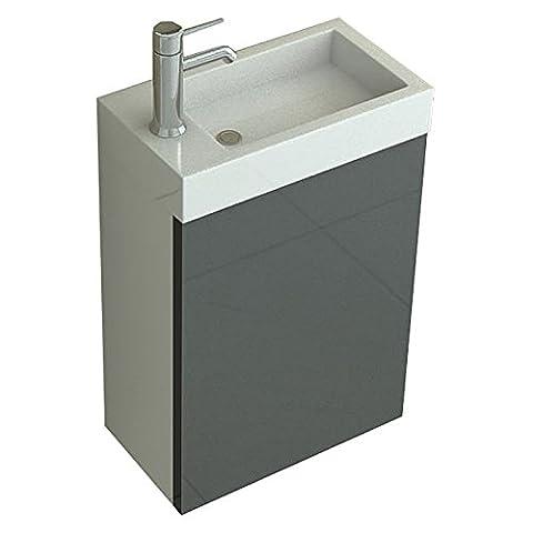 WC Waschbecken Set Aarau in grau Bad Bäder und Badaustattung von Jet-Line