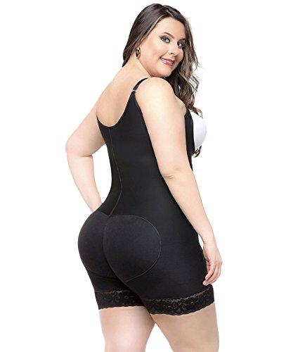 RIBIKA Open Bust Shapewear Body Shaper Women Seamless Underwear Firm Control Bodysuit Zipper