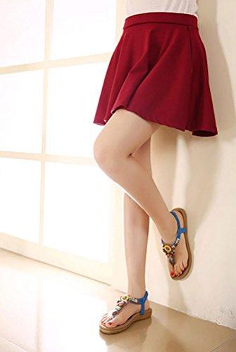 YOUJIA Donna Infradito Basse Piatte Con Perline Sandali Alla Moda 35-42 Blu