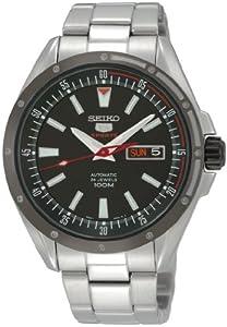 Reloj Seiko SRP155K1 automático para hombre con correa de acero inoxidable, color plateado de Seiko