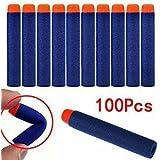 LUFA 100 pcs 1.2 cm*7.2 cm Relleno suave dardos Nerf N-strike Elite serie EVA Soft Refill para ninos