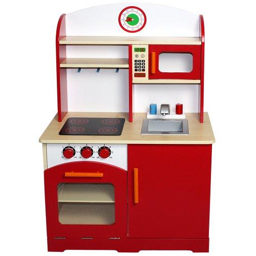 Infantastic Realistische Kinderküche Spielküche Holzküche aus Holz inkl. vielen Extras