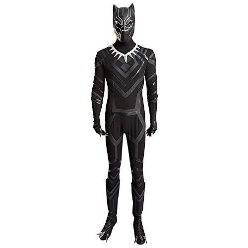 KILLM Halloween Panther Adult Play Game Film Captain America Bürgerkrieg Helm Maske Strumpfhosen Cosplay (Frauen Bürgerkrieg Kostüm)