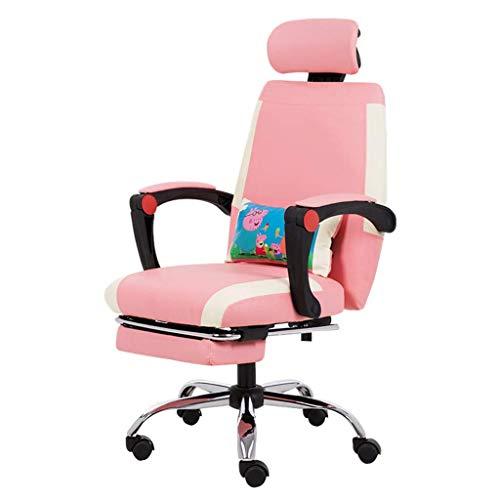 Silla de escritorio rosa silla de computadora para mujer silla de trabajo de estudio sala de estar taburete dormitorio silla...