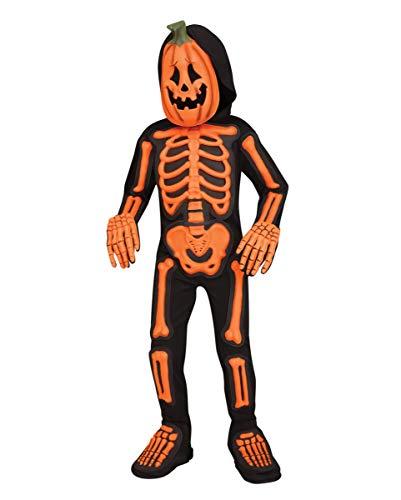 Horror-Shop Kürbis Skelett Jumpsuit Kleinkind für Halloween L