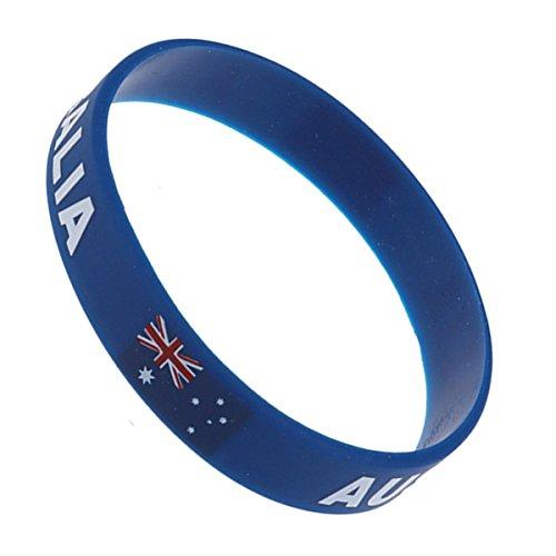 BESTOYARD WM 2018 Land Silikon Armband Sport Armband für Fußball Thema Bar Party Dekorationen (Australien)