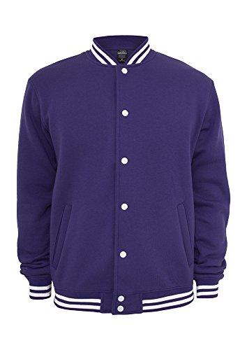 Urban Classics College Sweatjacket, Felpa Uomo Purple