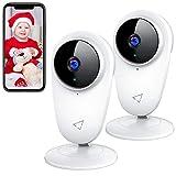 1080P Baby Monitor,Victure Telecamera 2.4G WiFi Interno, Telecamera IP di Sorveglianza per Bambini e per Animali Domestici,Visione Notturna e rilevazione di movimento con Audio Bidirezionale