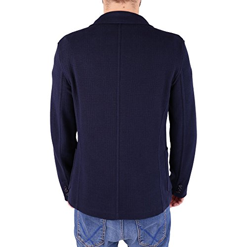 TRUSSARDI-Blazer in misto cotone 52H00029 Blue