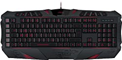Speedlink Gamer Tastatur für PC / Computer - Parthica Core Gaming Keyboard USB (Anti-Ghosting - und bis zu 6-Tasten-Rollover-Technik - 93 Tasten konfigurierbar - vierstufige Response-Time; min. 2 Millisekunden) schwarz
