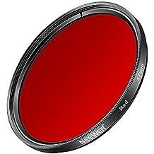 Neewer 67mm Filtre Coloré Rouge pour Canon Rebel (T5i, T4i, T3i, T2i), EOS (70D, 700D, 650D, 600D, 550D) Caméras DSLR, en Verre Optique HD et Cadre en Alliage d'Aluminium