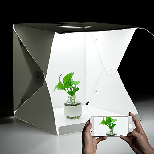 iLifeSmart Mini Box Foto Studio Zelt faltbar Softbox (40 * 40 * 40 cm) mit Licht LED 4 Farben-Fonds für Fotografie