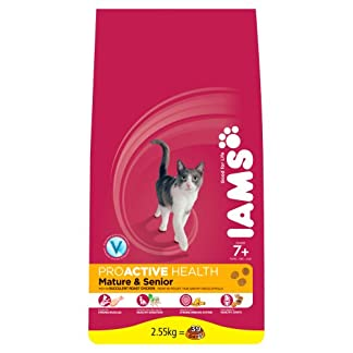 Iams Dry Cat Food Senior and Mature Chicken, 2.55 kg - Pack of 3 15
