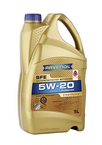 RAVENOL Super Fuel Economy SFE SAE /5 W-20 Vollsynthetisches Motoröl (5 Liter) -