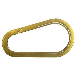 Bico Keyklipz Tear Drop Titanium Keyring/Carabiner: Gold Finish (KR25B-GLD)