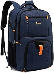 """POSO 17.3 """"حقيبة ظهر للكمبيوتر المحمول للسفر بسعة كبيرة للكلية المدرسية مع منفذ شحن USB حقيبة كمبيوتر للأ"""