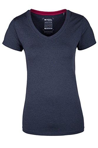 Mountain Warehouse Panna Damen Melange T-Shirt outdoor Sport aktiv Base Layer Sonnenschutz Kompression Funktionsshirt Grau DE 38 (EU 40)