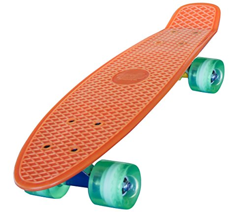 Streetsurfing Skateboard 22 Beach Board, Orange, One Size (Trick-board)
