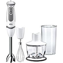 Braun MultiQuick 5 Vario MQ 5035 Sauce Stabmixer, 750 W, Zerkleinerer (500 ml), Edelstahl-Schneebesen, EasyClick System, PowerBell Technologie