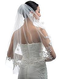 Topwedding Ivoire 1 couche longueur au coude voile de mariage avec peige