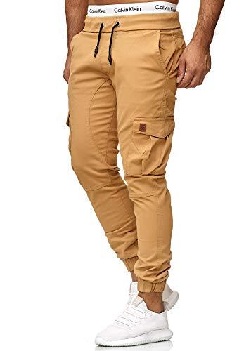 OneRedox Herren Chino Pants | Jeans | Skinny Fit | Modell 3301 Sand 36