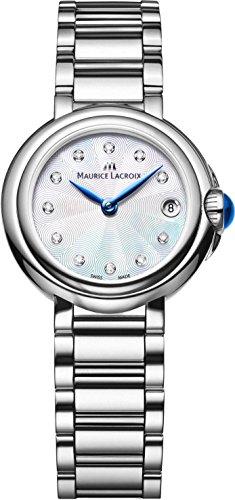 Maurice Lacroix Fiaba Round FA1003-SS002-170 Wristwatch for women with genuine diamonds