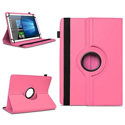 na-commerce Telekom Puls Tablet Hülle Tasche Schutzhülle Cover 360° Drehbar Case Schutz Etui, Farben:Pink