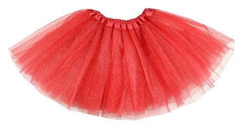 Hotportgift Damen Ballon Kleid Rot Rot One (Uk Dress Boy Toddler Fancy)
