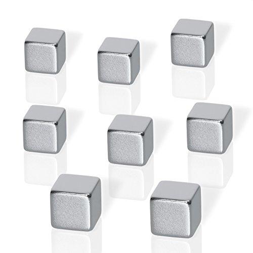 Be!Board B3101 Neodym-Magnete, Würfelmagnete im XL Format, gut zu greifen, extrem stark, 8er-Set
